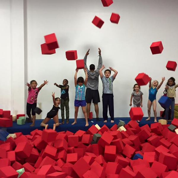 Awesome Foam Pit at Gym-Fit Sports